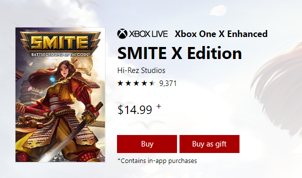 SMITE X Edition Pricing Error