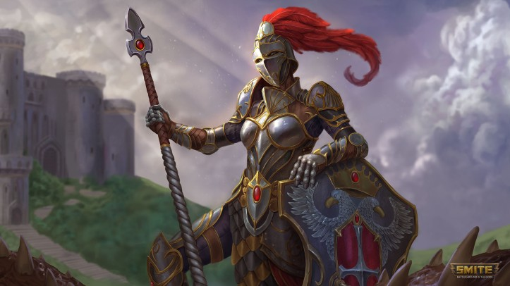 Knight of Wisdom Athena Skin SMITE