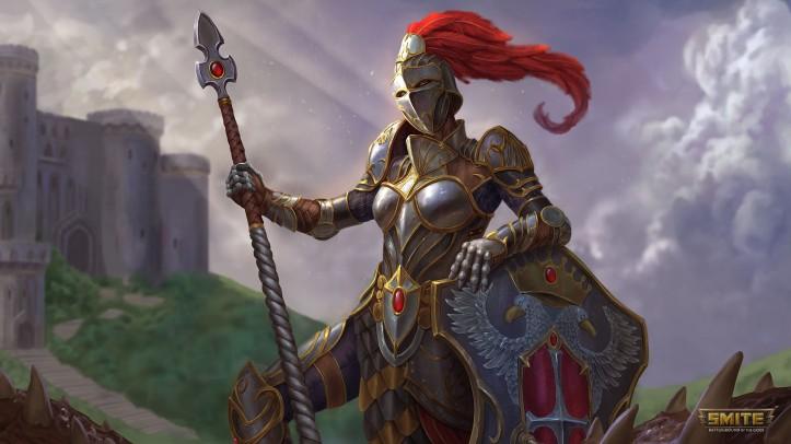 Knight of Wisdom Athena Skin SMITE