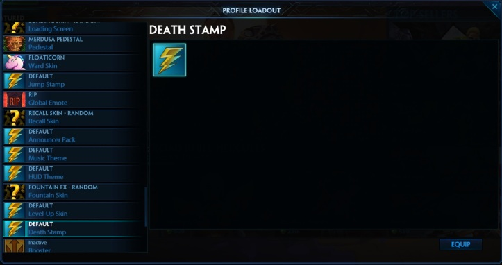 SMITE Death Stamp Profile Loadout