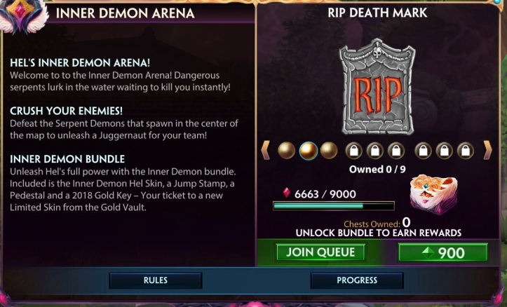 SMITE Inner Demon Arena Rewards
