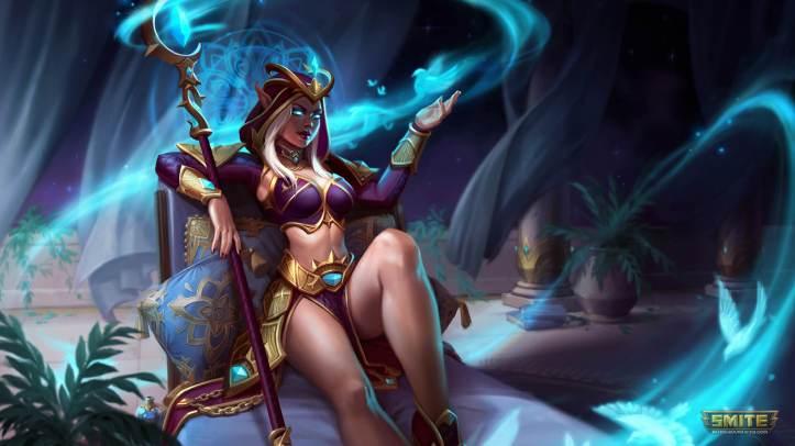 Violet Sorceress Aphrodite Skin SMITE