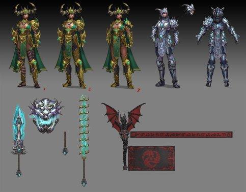 Divine Dragon Bellona Concept Art SMITE 4