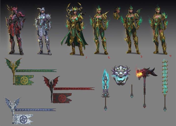 Divine Dragon Bellona Concept Art SMITE