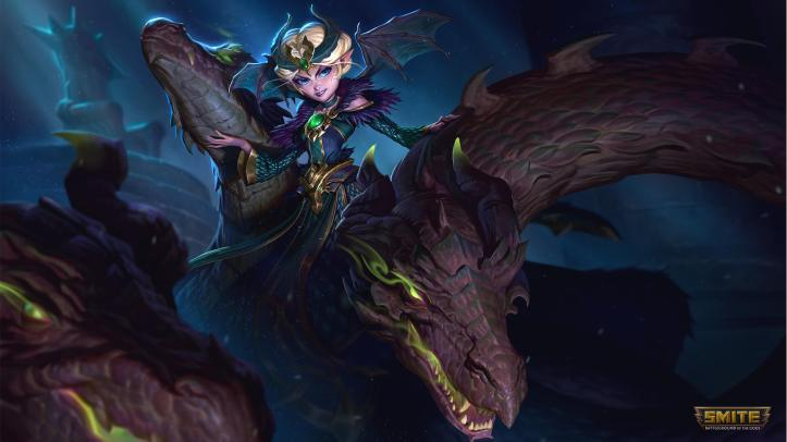 Dragon Queen Scylla SMITE Skin