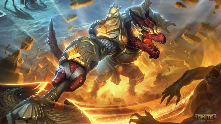 Dragon's Light Sobek SMITE Skin