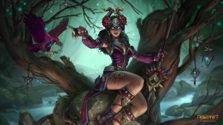 Soothsayer The Morrigan SMITE Skin