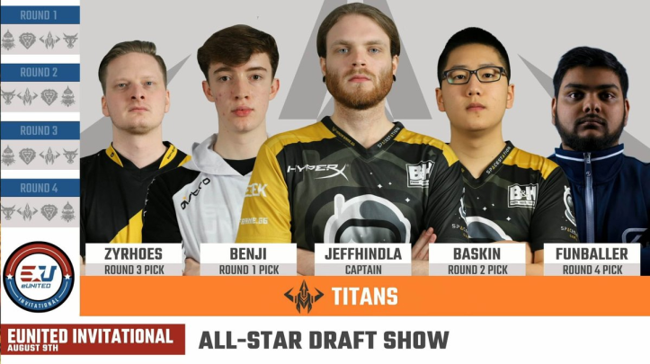 eUnited Invitational Titans Roster