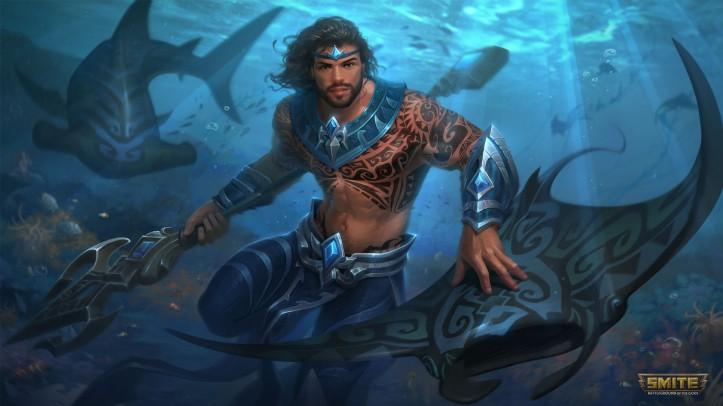 Riptide Poseidon SMITE Skin