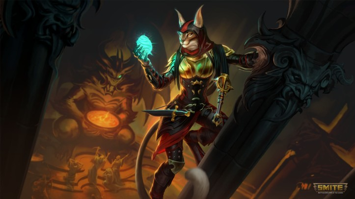 Shadow Claw Bastet Skin SMITE