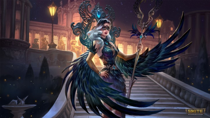 SMITE Midnight Raven Isis Skin