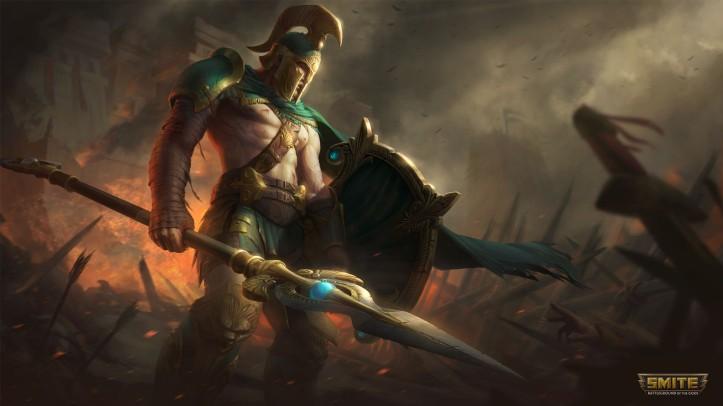 Battleworn Achilles SMITE Skin