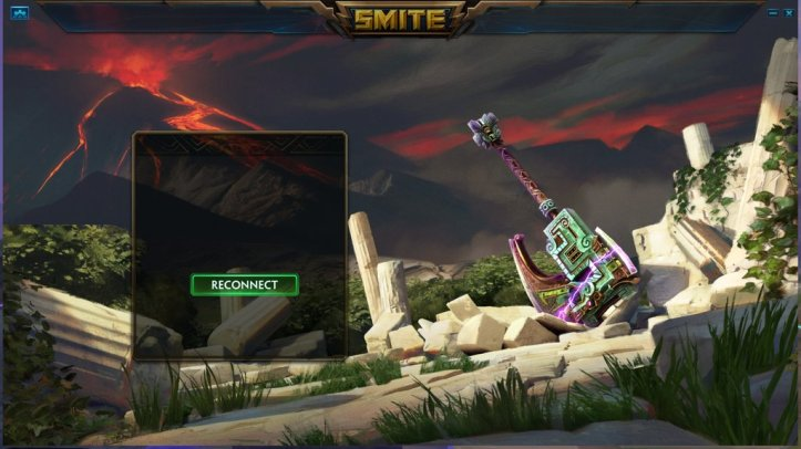 SMITE Reconnect Screen