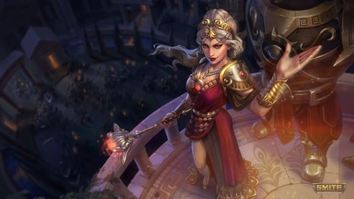 Hera Crimson Queen Recolor Skin SMITE