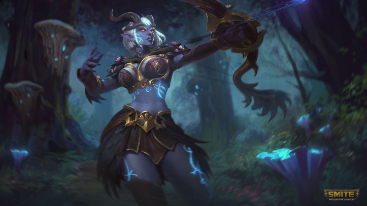 Moonlit Neith SMITE Skin