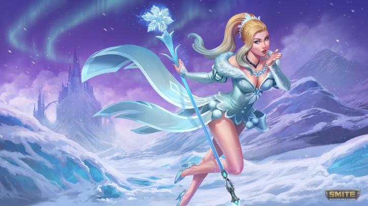 Ice Queen Aphrodite SMITE Skin
